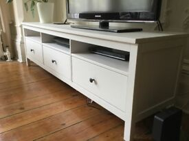 TV Media Unit Bench Cabinet HEMNES White IKEA