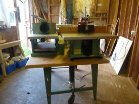 COMBINATION WOODWORKING MACHINE KITY K704 WITH MANY MANY £100S OF TOOLING & ASSESSORIES