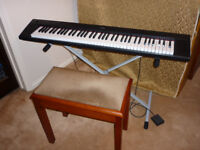 Yamaha piaggero NP-31 elctronic keyboard. As new. Little home use.