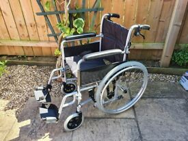 BRAND NEW Never Used - Self Propelled Lightweight Wheelchair - Detachable Rear Wheels on wheel chair