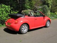 VW BEETLE 1.9 TDI CONVERTIBLE F.S.H 13 SERVICES NEW MOT