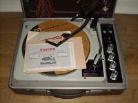 Vintage Singer Stereo System with Original Paperwork - Garrard Deck
