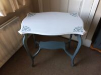Grey side table - occasional table - coffee table - dressing table - curved legs
