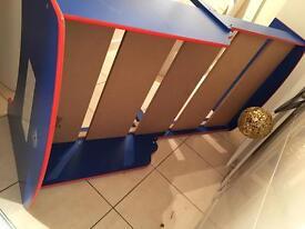 Spider man boy kids bed adjustable JOHN LEWIS mattress INCLUDED