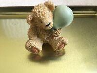 Bear holding balloon ornament