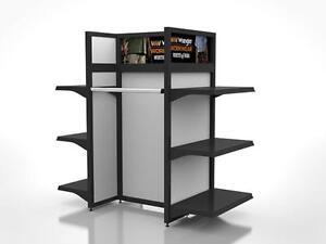 Store fixtures! Présentoir de plancher, Salesmen Racks on wheels, Rolling Racks, Commercial grade, Boutique accessories