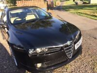 Black Alfa Romeo, full body kit, Cream Leather interior, Mot,