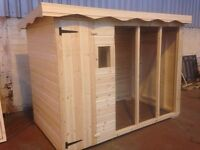 HEAVY DUTY EXTRA LARGE DOG KENNEL AND RUN WITH WINDOW 6FT HIGH