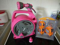 FINAL REDUCTION. Pink Hozelock Pico 10m Garden Hose & 3 Tape Measures Thrown In.