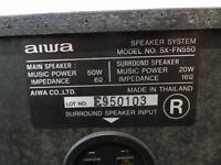Pair of AIWA dual power speakers with great sound