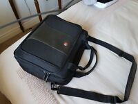 """Swiss Army 16"""" Black Laptop Bag - Made by Wenger"""