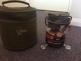 Colmans petrol burner and Nash bag