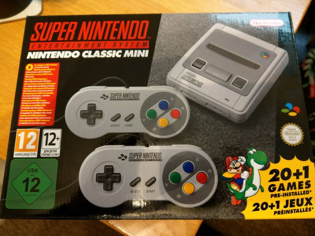 SNES mini classic with the original 21 games plus over 230 games added