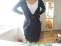 Black Bolero 100% Merino Wool! Size 10