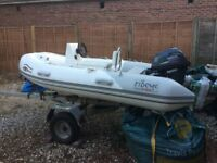 2010, Ribeye TS310. with Jockey Console - Yamaha 20 hp outboard engine and trailer.