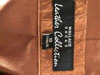 Wallace Sacks Leather Jacket size 10