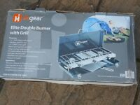 Hi-gear double burner and grill
