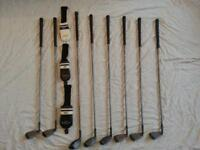 set of 8 golf clubs. Adamsgolf midsize Mitsubishi rayon