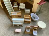 Sylvanian family beechwood house and furniture