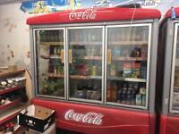 Retail shop fridges