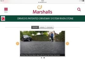 Marshalls Drivesys split stone basalt project pack. 7.22 square metres unopened pallet overorder