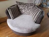 Swivel cuddle sofa