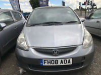 2008 HONDA JAZZ 1.4 AUTO 5 DOORS JUST 62000 MILES. FOR REPAIR