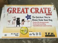 Large dog crate. Good condition.
