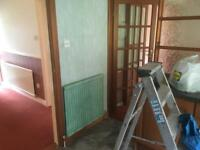 Bevel edge glass doors
