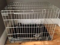 Large dog crate study good condition