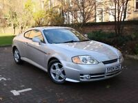 EXCELLENT SPORTS CAR!! 2004 HYUNDAI COUPE 2.0 SE BLACK LEATHER ONLY 73000 MILES 1 YEARS MOT WARRANTY