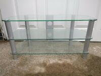 Glass TV Stand. Good condition £8