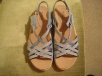 Hotter Maisie Ladies Sandals, Pale Blue strappy UK 6.5 STD worn for a few HRS indoors.