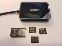 Sony compatible Memory Stick Micro M2 Memory cards, Adapters, and USB Reader