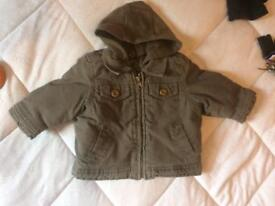 Baby boys mothercare coat