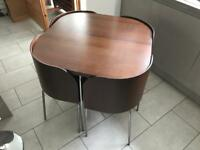 Ikea Fusion Compact Dining Table & 4 Chairs Walnut