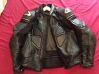 Used Dainese leather jacket size 50 black mint