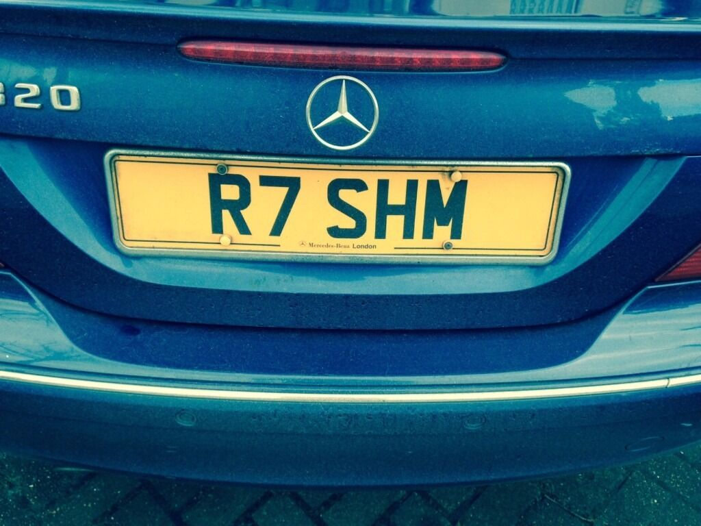 Number Plate R7shm Could Spell Rashem On Retention