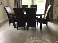 House of Fraser quality Lausanne Table and 6 Caprice Chairs