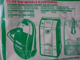 Hoover H7 Dust Bags x 8, for Sensotronic, Vogue, Alpina and Super Sprint models