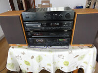6 Pieces Denon Full Size Hi-Fi system ready to Rock with All the cables Excellent Working Order
