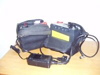 2 Golf Trolley Batteries and chager