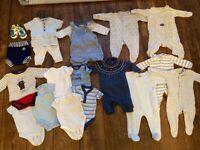 Big bundle of baby boy clothes 0-3 months