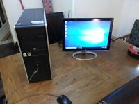 """HP Quad Core computer with 19"""" wide monitor! FREE DELIVERY!"""