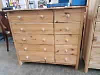 Modern wide chest of 10 drawers