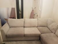 Lounge Suite - Corner chaise sofa 4 seater, oversized cuddler chair and footrest