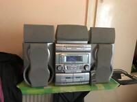 SHARP CD-DP2400 stereo system.