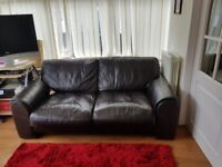 Almost new leather sofa, two seater, rarely used, excellent condition.