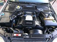 AUDI A8 QUATTRO 2.8 V6 AUTO 2002 Silver , full black leather interior audi a8 not s8