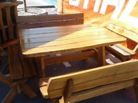 Luxury New Handmade Hardwood Oak Garden Furniture Sets, Swings, Swing Chairs And More